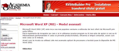 Microsoft Word XP (RO) - Modul avansați