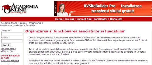 Organizarea și funcționarea asociațiilor și fundațiilor