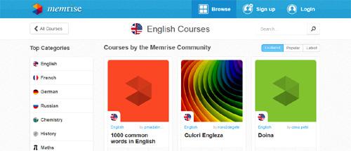 Limba engleză (Memrise)