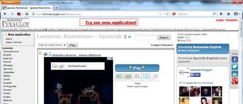Tutoriale de limba spaniolă (Internet Polyglot)