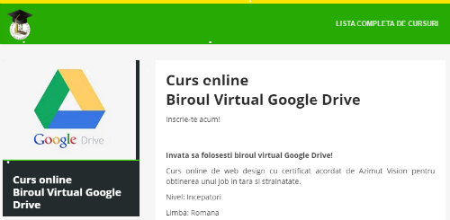 Biroul virtual Google Drive