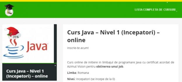 Java - nivel 1 (începători)