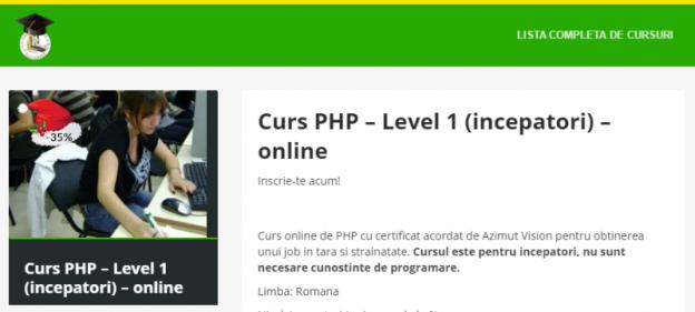 PHP nivel 1 (începători)